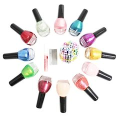 12 PC stunning nail varnish set with 50 decorative fimo rodcanes for nail art by Kurtzy TM -- Click on the image for additional details.