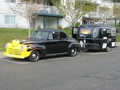 1946 Ford Business Coupe and Sunrise boler.