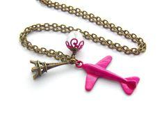 """Kette - """"voyage rose"""" - ein handgemachtes Schmuckstück der Perlenfontäne bei DaWanda"""