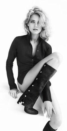 Natalia Vodianova for Stuart Weitzman.