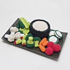 Crochet Vegetable Tray Pattern PDF (@Antje van Leeuwen)