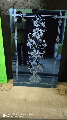 Glass Partition Designs, Window Glass Design, Frosted Glass Design, Frosted Glass Door, Glass Etching Designs, Glass Painting Designs, Etched Glass Door, Stained Glass Door, Room Door Design