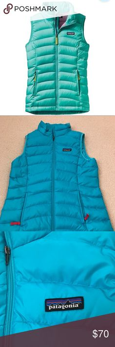 Patagonia Girls Down Vest Patagonia bright blue down vest in girls size XL buy would fit a women's XS-S. New w/out tags, in perfect condition. Patagonia Jackets & Coats Vests
