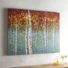 Multi-colored Courageous Trees Art - Acrylic