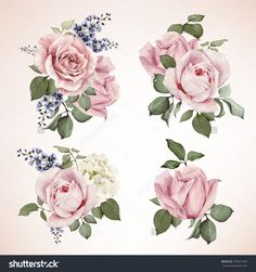 Bouquet Of Roses, Watercolor, Can Be Used As Greeting Card, Invitation Card For…