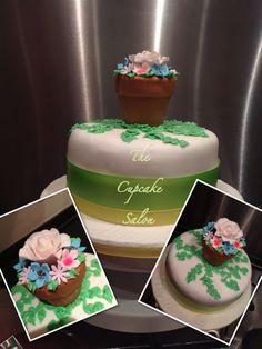Garden/vase cake I did yesterday