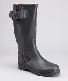 Look at this #zulilyfind! Gray Adventure Rain Boot #zulilyfinds