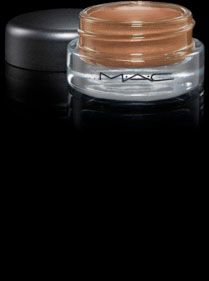 MAC Cosmetics: Pro Longwear Paint Pot in Indianwood -- Perfect metallic brown could be used as shadow for lid or shadow base.