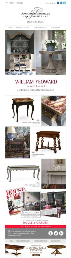 William Yeoward... collected #jcfurniture #jonathancharles #Furniture #InteriorDesign #decorex #luxe #hpmkt #williamyeoward
