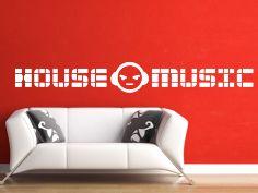Wandtattoo House Music - erhältlich auf www.klebespass.de