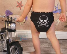 One size cloth snap diaper with adjustable elastic & gussets - pirate embroidery - pinned by pin4etsy.com