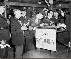 In May of 1942, the U.S. Office of Price Administration (OPA) froze prices   on practically all everyday goods, starting with sugar and coffee. War   Ration Books were issued to each American family, dictating how much   any one person could buy. Gasoline was rationed on May 15, 1942 on the   east coast, and nationwide that December.