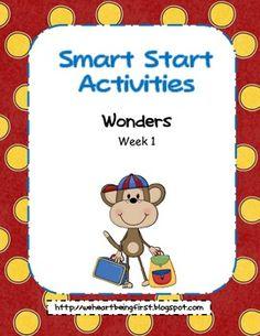 Wonders - First Grade - Smart Start - Week 1 of 3