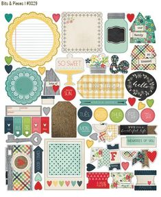 HS_Bits&Pieces  love the mix of vintage and modern in this new line   LOVE!  #simplestories #homespun