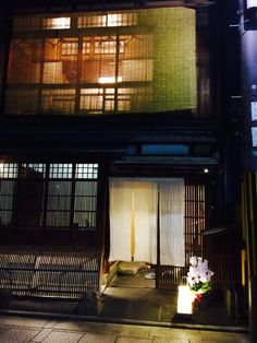 House front, Gion, Kyoto.