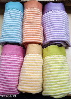 Briefs Fancy Cotton Panty (Pack Of 6) Fabric: Cotton Hosiery Waist Size:  S - 80 cm M - 85 cm L - 90 cm XL - 95 cm XXL - 100 cm Type: Stitched Description: It Has 6 Pieces Of Panties Pattern: Checked Country of Origin: India Sizes Available: S, M, L, XL, XXL   Catalog Rating: ★4.1 (8616)  Catalog Name: Ladies Plain Multi Colour Cotton Panty Vol 1 CatalogID_147483 C76-SC1042 Code: 673-1179919-