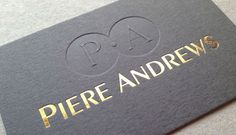 Embossed and Debossed Business Cards | UBC