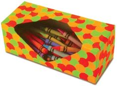 Great way to store crayons an re-use a Kleenex box