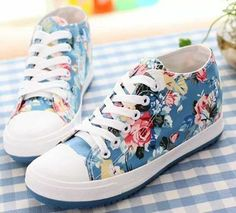 2014 spring flat lacing low casual skateboarding shoes elevator canvas shoes-inFlats from Shoes on A Sneakers Fashion, Fashion Shoes, Shoes Sneakers, Shoes Heels, Floral Sneakers, High Heels, Sock Shoes, Shoe Boots, Shoe Bag