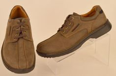 ECCO Fusion mens gray suede leather Bicycle Toe lace up Oxfords 10 43 Pre-owned #ECCO #Oxfords