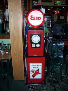 Esso Gasoline Pump by The Upstairs Room, via Flickr