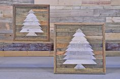 Reclaimed Wood Wall Hanging Mosaic Wood Art by NorthboundSalvage