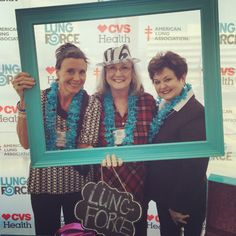 Lung Force Expo 2015 All three of these women are lung cancer survivors who have never smoked. Anyone can get lung cancer, the leading cancer killer of women! Please help support lung cancer awareness.
