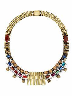 Iosselliani Multicolor Stud Necklace