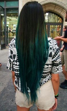 Sexy Teal Ombre` Hair