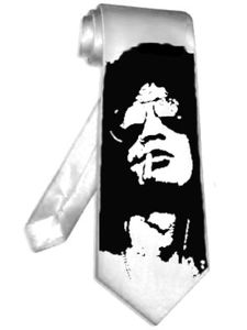 NEW slash velvet revolver necktie WHITE satin silk neck tie