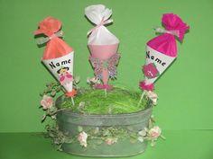 Einschulung Cupcake Kuchen Topper Mini Schultüte