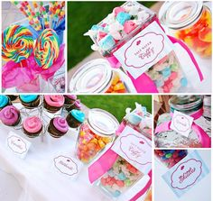 Candy Bar at a Candy Land party Mug of candy canes Good for You 'Candy' Cane Sweets. Such a cute idea as a party favor Lollipop Party, Candy Party, Candy Land Theme, 1st Birthday Parties, Birthday Ideas, 3rd Birthday, Birthday Candy, Pink Birthday, Colorful Candy