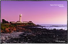 Pigeon Point Lighthouse Pescadero sunset color by David Yu, via 500px