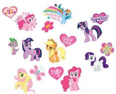 My Little Pony Tattoos 16ct