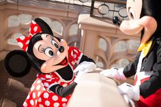 Mickey & Minnie enjoying a beautiful lovely day together at Tokyo Disneyland Resort