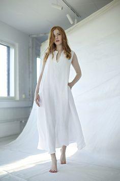 niinmun´design maxi dress, linen White Dress, Dresses, Design, Style, Fashion, Vestidos, Swag, Moda, Fashion Styles