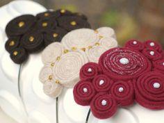 {Plum Swirls Headband Handmade | Etsy} So pretty.