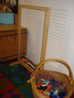 """Weaving area - from Playfully Learning ("""",)"""
