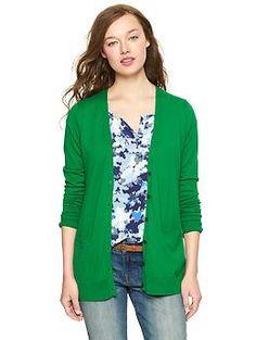 NEED A KELLY GREEN CARDIGAN Luxlight V-neck pocket cardigan | Gap