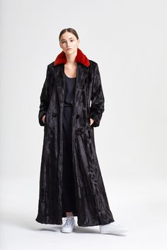 Coat Tessa Brown + Rex Rust Duster Coat, Fur Coat, Fake Fur, Rust, Raincoat, Street Style, Brown, Jackets, Beautiful