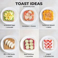 When you're looking for a light and simple snack or breakfast, try these delicious toast ideas! They're easy and quick to prepare and even easier to pack, thanks to Kinsho Bento Boxes. 😍 Find your favorite today at www.amazon.com/kinsho #lunchboxforkids #backtoschoolideas #healthylunchesforkids#bentolunchideas #lunchboxideas #healthyschoollunches #bentoboxlunchforkids#healthytoodlermeals #kidshealthylunches Healthy Desayunos, Good Healthy Recipes, Healthy Meal Prep, Healthy Breakfast Recipes, Healthy Eating, Nutritious Breakfast, Healthy Chicken, Healthy Filling Breakfast, Healthy Snacks