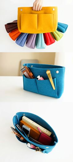 The Felt Purse Organizer frees you from having a messy purse! With the well-sized compartment and pockets, you can store many of your daily items while keeping your purse clean and neat.