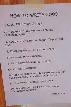 10 Ways to Write....Gooder?   Via @Edudemic