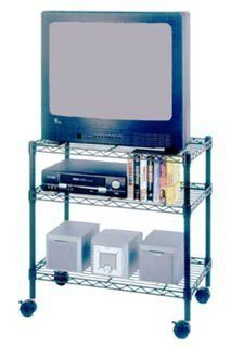 """SENSIBLE STORAGE 3-Shelf Media Cart by Sensible Storage. $41.38. 80808 Features: -Media cart. -Overall dimensions: 5.25"""" H x 16.62"""" W x 23.37"""" D.. Save 26%!"""