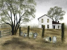 Old Crocks Country Framed Art by Billy Jacobs...I have this in a huge canvas size!