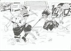 Killer Bee vs Zaraki Kenpachi drawing
