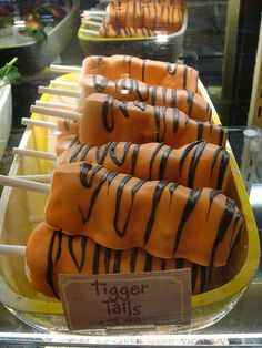 Tigger Tails, maybe make with rice crispie treats!