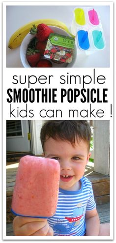 Cooking With Kids • Smoothie Popsicle for the littles to start off teacher summer. Preschool Cooking Activities, Camping Activities For Kids, Toddler Activities, Preschool Projects, Toddler Play, Sensory Activities, Outdoor Activities, Cooking In The Classroom, Cooking Classes For Kids