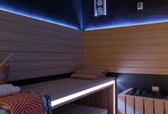 Basement sauna Residential Interior Design, Luxury Interior Design, Basement Sauna, Taylor Howes, Glass Lift, Church Conversions, Spa Design, Home Spa, Spas