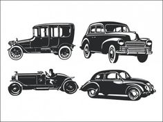 Vintage Car Silhouette Pack Free vector in Adobe Illustrator ai ...